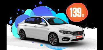 Fiat Egea Dizel, Otomatik Günlük 159 TL Araç Kiralama Kampanyası