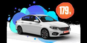 Fiat Egea Dizel, Otomatik Günlük 179 TL Araç Kiralama Kampanyası