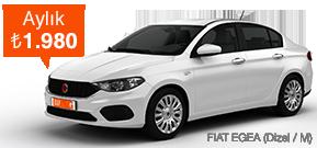Efsane Fiat Egea, Benzersiz Fiyata! Araç Kiralama Kampanyası