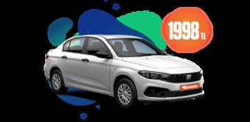 Fiat Egea dizel, manuel ve benzeri, 18 Günlük Kiralamalarda 1.998 TL Araç Kiralama Kampanyası