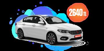 Fiat Egea  veya Benzeri Aylık Sadece 2.640 TL Araç Kiralama Kampanyası