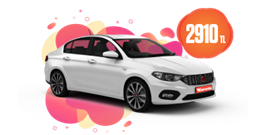 Fiat Egea Süper Fiyata! Sadece 2.910 TL. Araç Kiralama Kampanyası