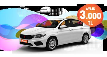 Fiat Egea Süper Fiyata! Sadece 3.000 TL. Araç Kiralama Kampanyası