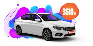 Fiat Egea Dizel, Manuel veya Benzeri Aylık Sadece 3510 TL Araç Kiralama Kampanyası