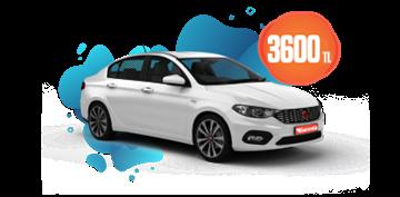 Fiat Egea Dizel, Manuel Aylık Sadece 3.600 TL. Araç Kiralama Kampanyası