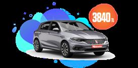 Fiat Egea Hatchback Dizel, Manuel veya Benzeri Aylık Sadece 3.840 TL Araç Kiralama Kampanyası