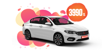 Fiat Egea Dizel, Otomatik Aylık Sadece 3990 TL Araç Kiralama Kampanyası