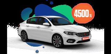 Fiat Egea Dizel Otomatik  ve benzeri, Aylık Sadece 4500 TL Araç Kiralama Kampanyası
