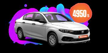 Fiat Egea Benzinli, Manuel Aylık Sadece 4.950 TL. Araç Kiralama Kampanyası
