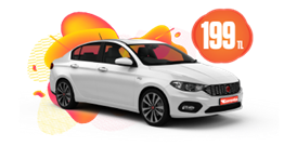 Benzinli, Otomatik Fiat Egea Günlük 199 TL Araç Kiralama Kampanyası