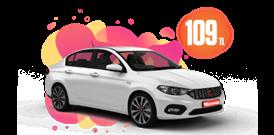 Fiat Egea Efsane Fiyata! Günlük 109 TL Araç Kiralama Kampanyası
