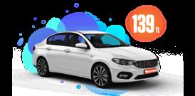 Fiat Egea Dizel, Manuel Günlük Sadece 139 TL Araç Kiralama Kampanyası