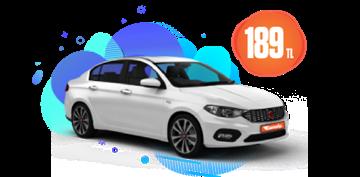 2021 Model Fiat Egea Benzinli, Manuel veya benzeri Günlük 189 TL Araç Kiralama Kampanyası