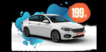 Fiat Egea Benzinli, Otomatik Günlük  Sadece 199 TL Araç Kiralama Kampanyası