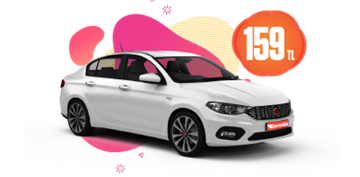 Fiat Egea Dizel, Manuel Hafta İçi  159 TL, Hafta Sonu 199 TL Araç Kiralama Kampanyası