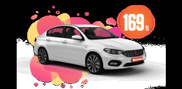 Fiat Egea Dizel, Otomatik Günlük Hafta İçi 169 TL, Hafta Sonu 229 TL Araç Kiralama Kampanyası