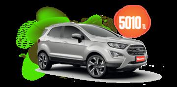 Ford Ecosport Benzinli Otomatik veya benzeri Aylık 5010 TL Araç Kiralama Kampanyası