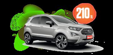 Benzinli Otomatik Ford Ecosport veya benzeri Günlük 210 TL Araç Kiralama Kampanyası