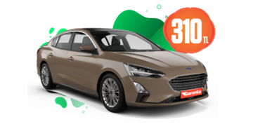 Ford Focus Dizel, Otomatik Günlük 310 TL Araç Kiralama Kampanyası