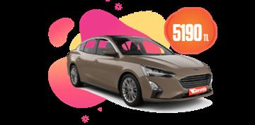 Dizel Otomatik Ford Focus veya benzeri Aylık 5190 TL Araç Kiralama Kampanyası
