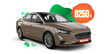 Ford Focus Dizel, Otomatik Aylık KDV Dahil 8.250 TL Araç Kiralama Kampanyası