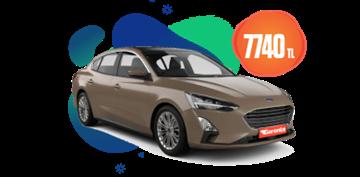 Ford Focus Dizel, Otomatik Aylık Sadece 7.740 TL Araç Kiralama Kampanyası