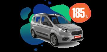Ford Tourneo Courier Dizel, Manuel Günlük Sadece 185 TL Araç Kiralama Kampanyası