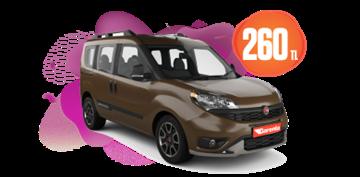 Fiat Doblo Dizel, Manuel Günlük Sadece 260 TL Araç Kiralama Kampanyası