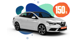 Renault Megane Dizel Otomatik ve benzeri, Günlük 150 TL Araç Kiralama Kampanyası