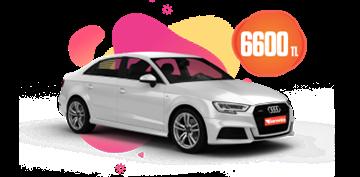 Audi A3 Otomatik, Benzinli Aylık Sadece 6.600 TL Araç Kiralama Kampanyası