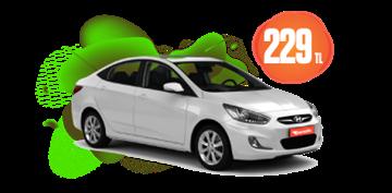 Hyundai Accent dizel, otomatik veya benzeri hafta içi 229 TL, hafta sonu günlük 259 TL Araç Kiralama Kampanyası