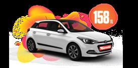 Hyundai i20 Benzinli, Otomatik veya benzeri Günlük 158 TL Araç Kiralama Kampanyası