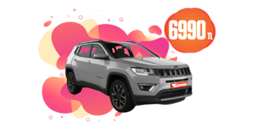 Jeep Compass Benzinli, Otomatik veya benzeri Aylık 6990 TL Araç Kiralama Kampanyası