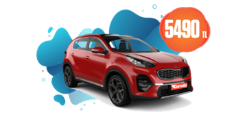 Kia Sportage Benzinli Otomatik veya benzeri Aylık 5490 TL Araç Kiralama Kampanyası