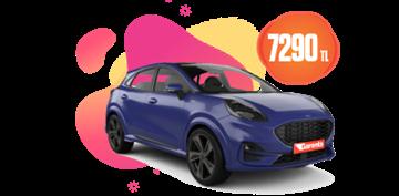 Benzinli, otomatik Ford Puma veya benzeri aylık sadece 7290 TL Araç Kiralama Kampanyası