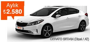 Cerato Sedan'da İndirim! Araç Kiralama Kampanyası