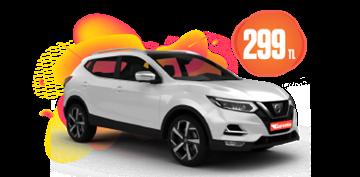 Nissan Qashqai Dizel, Otomatik Günlük Sadece 299 TL Araç Kiralama Kampanyası