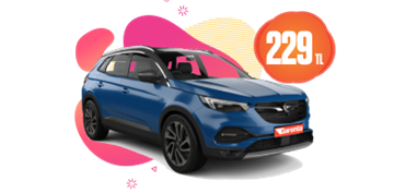 Opel Grandland X Dizel, Otomatik veya benzeri Günlük 229 TL Araç Kiralama Kampanyası