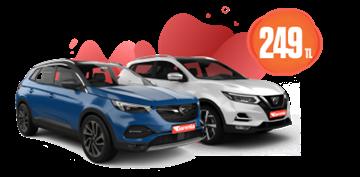 Nissan Qashqai Dizel, Otomatik Hafta İçi Günlük 249 TL, Hafta Sonu 299 TL Araç Kiralama Kampanyası