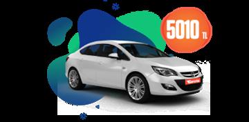 Benzinli, otomatik Opel Astra aylık sadece 5010 TL Araç Kiralama Kampanyası