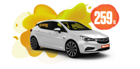 Opel Astra Hatchback Dizel, Otomatik  Günlük Sadece 259 TL Araç Kiralama Kampanyası