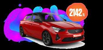 Benzinli, Manuel Opel Corsa veya benzeri 18 Günlük Kiralamalarda 2.142 TL Araç Kiralama Kampanyası