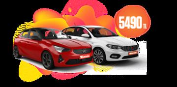 Opel Corsa ve Fiat Egea Aylık KDV Dahil 5.490 TL Araç Kiralama Kampanyası