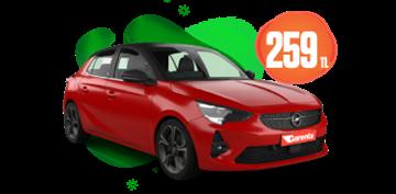 Opel Corsa Benzinli, Manuel Günlük Sadece 259 TL! Araç Kiralama Kampanyası