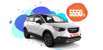 Opel Crossland Dizel, Manuel Aylık Sadece 5.550 TL Araç Kiralama Kampanyası