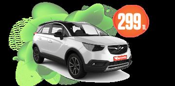 Opel Crossland Dizel, Manuel Günlük Sadece 299 TL Araç Kiralama Kampanyası