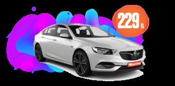 Opel Insignia Dizel, Otomatik Hafta İçi ve Hafta Sonu Günlük 229 TL Araç Kiralama Kampanyası