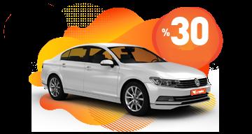 Pay Now & Save 30%  Araç Kiralama Kampanyası