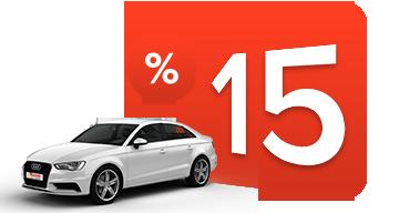 Pay Now & Save %15  Araç Kiralama Kampanyası