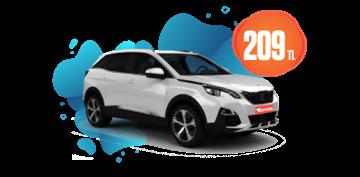 Peugeot 3008 Dizel Otomatik veya benzeri Günlük 209TL Araç Kiralama Kampanyası